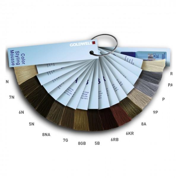 Goldwell Colorance Fönschaum Color Styling Mousse Farbkarte