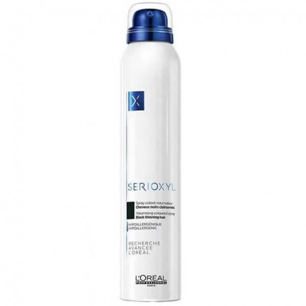 L'Oréal Professionnel Serioxyl Volumising Coloured Spray Schwarz 200 ml